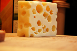 How many holes are in a piece of Swiss cheese?