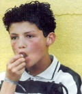 The young Cristiano