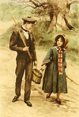 """Tom and Maggie Tulliver, characters in """"The Mill On The Floss"""""""