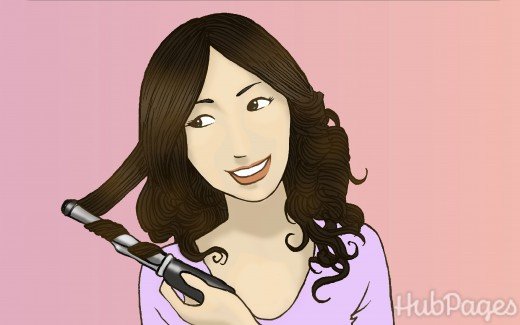 Curling or otherwise styling your hair with micro-ring hair extensions is simple.