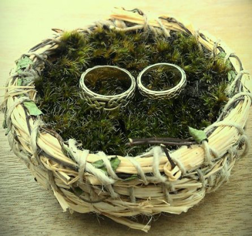 Coiled basket we made for our ring bearer.
