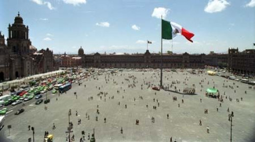 """Plaza de la Constrictucion """"Zocalo"""", Mexico City:"""