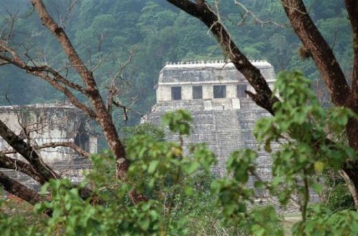 Pyramids in Palenque, Mexico