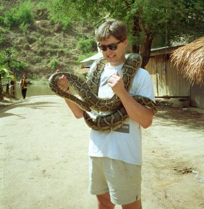 Me with a large snake