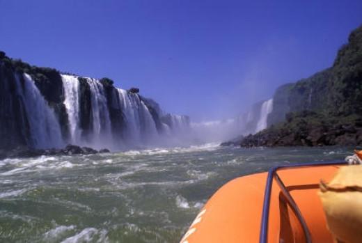 Boat Trip Under The Waterfalls at Iguacu