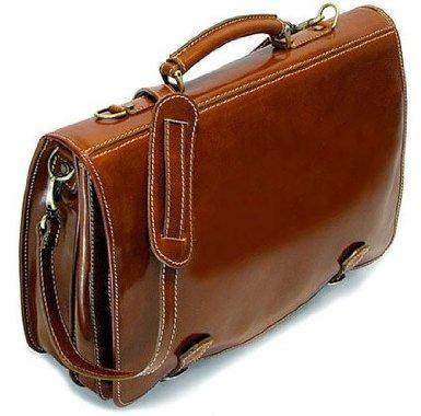 Cenzo Italian Leather Messenger Bag