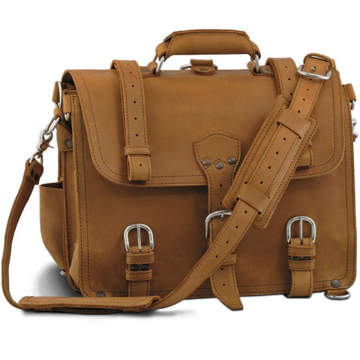 Saddleback Leather Large Classic Briefcase Full-Grain Leather in Chestnut: