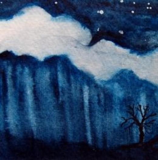 Art-Journal-to-Thankfulness-a-night-rain