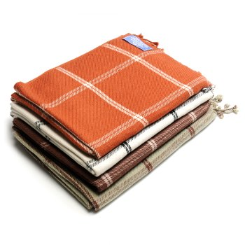 Himalaya Trading Company 100% Cashmere Windowpane Throw