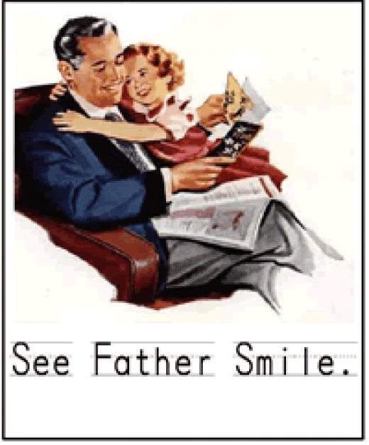 Fathers Day card printable greeting card retro design