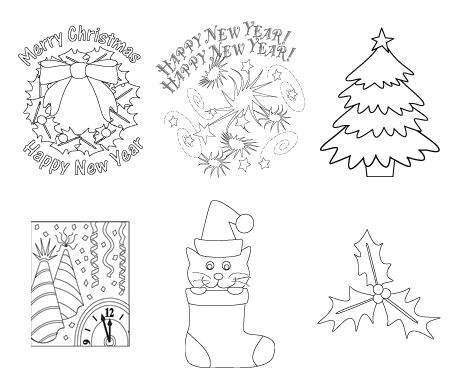 Christmas Tags Made with Coloring Page Art