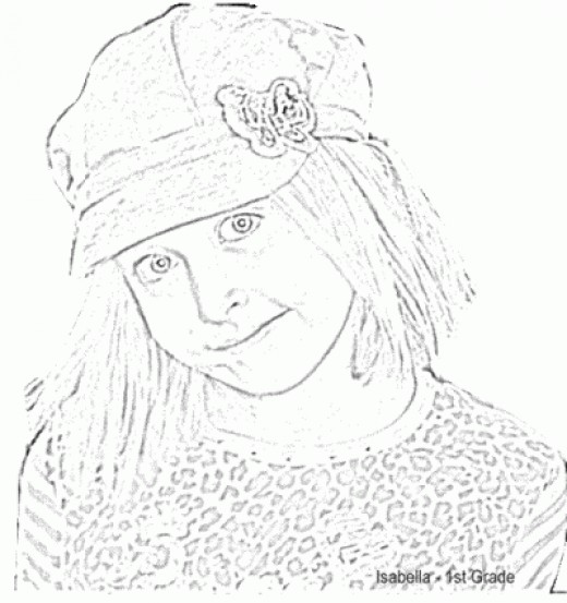 Make a Coloring Portrait from a Photo