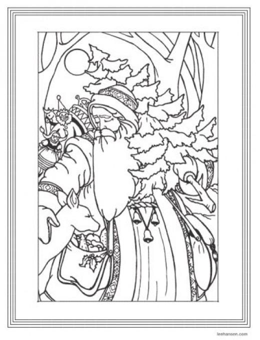 Old World Santa Claus Drawing