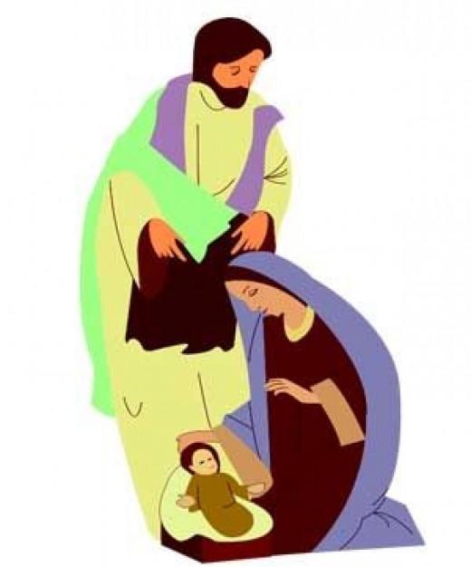 Nativity scene Christmas graphic from