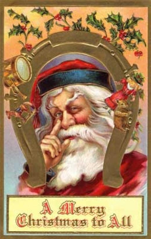 Vintage Santa Clip Art from public domain collection at karenswhimsy.com