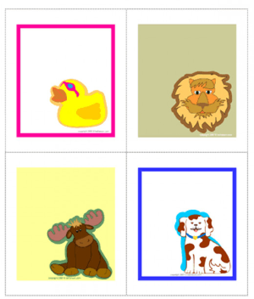 Animal sticker book plates, cubbie labels, book plates