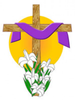 Draped Cross with Easter Lilies