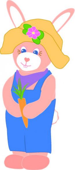 Farmer Easter Bunny Clip Art