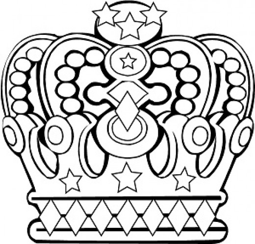 Crown Coloring Page, free printable