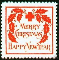 US Christmas Seal, type 2, 1907 - from eBay Christmas Seal Guide
