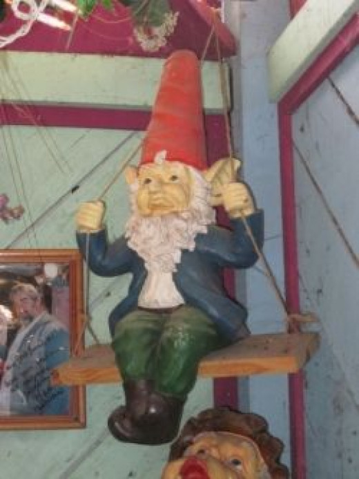 Gnome on a swing