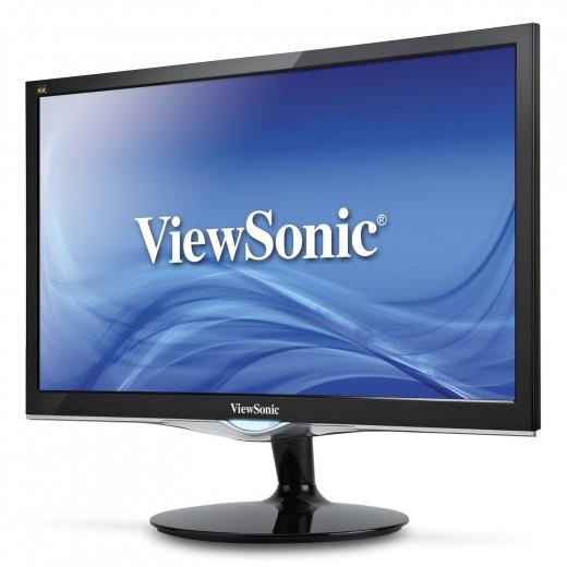 ViewSonic VX2452MH 24-Inch LED-Lit LCD Monitor, Full HD 1080p, 2ms, 50M:1 DCR, Game Mode, HDMI/DVI/VGA, VESA