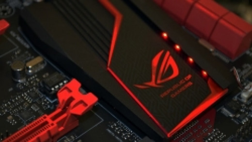 The lights and performance of the new Asus Z97 Hero are quite impressive.