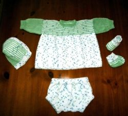 One-of-a-Kind Hand-Knitted Baby Layette