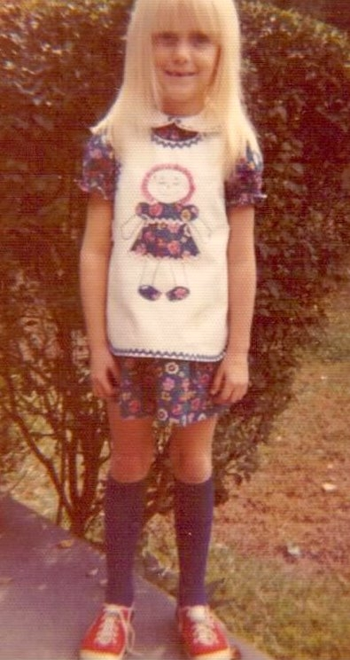 Daughter Kim Modeling Raggedy Ann Dress
