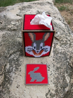Bugs Bunny on a Tissue Box Cover