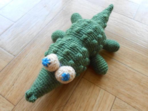 Crocheted Crocodile