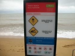 Crocodile Warning at the beach
