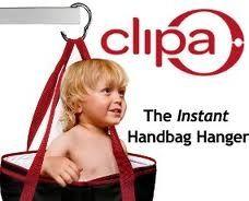 Clipa the instant handbag hanger