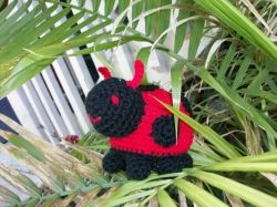Roly Poly Plush Lady Bug in Red