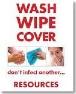 Wash Wipe and Cover Infection Control Posters