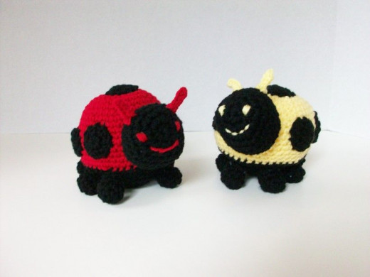 Red, Yellow or Orange -- all Lady Bugs are cute in Plush!
