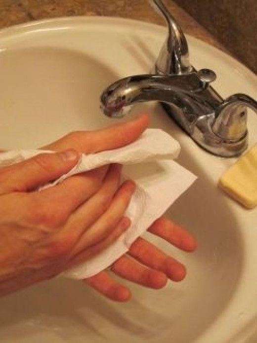 Hand Washing Step 6 OUTFOX Prevention