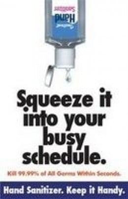 Squeeze It Into Your Busy Schedule Hygiene Poster OUTFOX Prevention