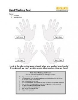 Handwashing posters for infection control