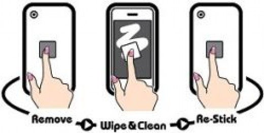 Clean your iphone screen cleaner