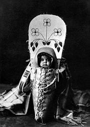 Native American baby of the Nez Perce tribe, photographed by Edward S. Curtis, 1911