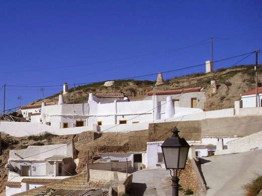 Cave houses in the village of Freila.