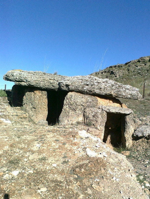 Megalithic tomb (dolmen) near the village of Gorafe.