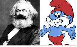 Carl Marx vs. Papa Smurf