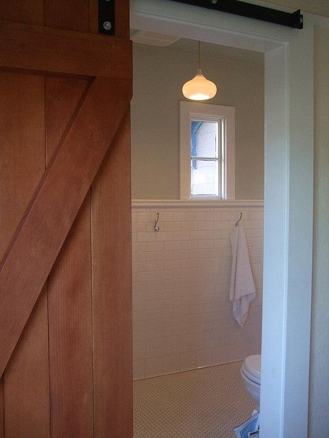 Sliding Barn Door for Bathroom, photo by palkadot