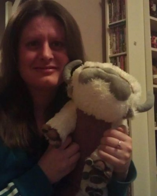 Me and my Plush Appa that I got from Sy for Christmas