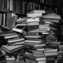 Stacks of books for reading