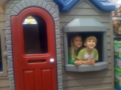 My very own Little Tikes in an Endless Adventures Outdoor Playhouse at Costco!