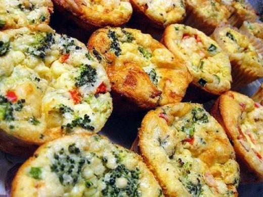 """Love Bites"" for Valentine's Day! (click the image to go to a recipe for mini spinach quiche)"