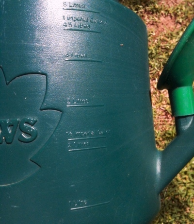 Another Feature of the Haws Watering Can: measurements on the side!
